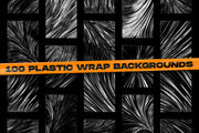 Abstract geometric shapes & Plastic wrap backgrounds bundle