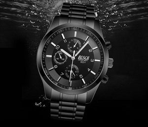 [Hurry up](Limited time offer)Mens Casual Watches Stainless Quartz Chronograph Waterproof Watch