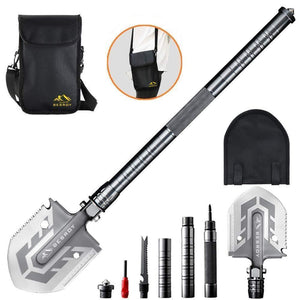 70%OFF -Last day promotion-Portable Military Folding Shovel with Tactical Waist Pack & Multi-Tools(Buy 2 Free shipping)