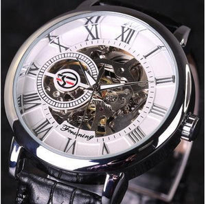 Holiday gift(sell at a low price)Top brand luxury 3D mechanical skeleton watch