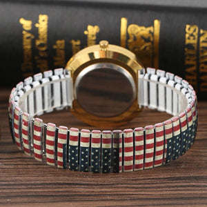 (Limited-time discount for independence day)Classic, vintage, diamond flag watch.