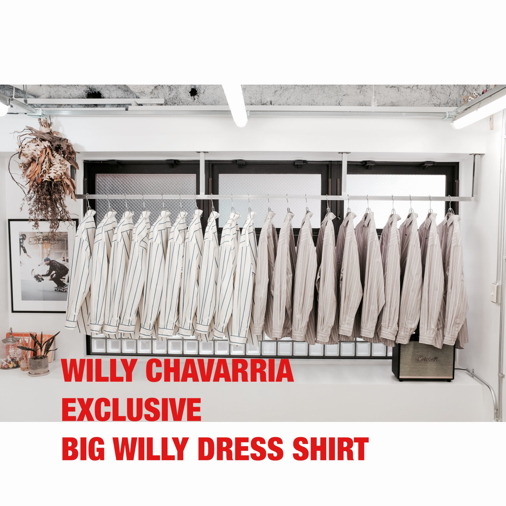 WILLY CHAVARRIA EXCLUSIVE BIG WILLY DRESS SHIRT