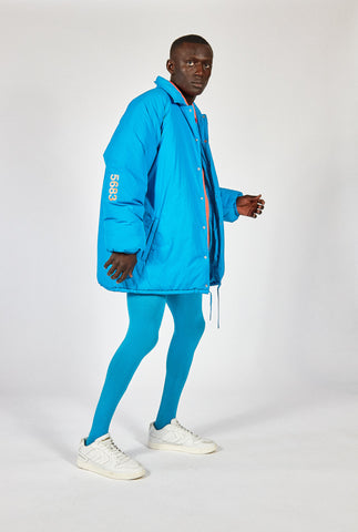 GIANT PADDED COACH JACKET - ATOMIC BLUE willy chavarria hummel