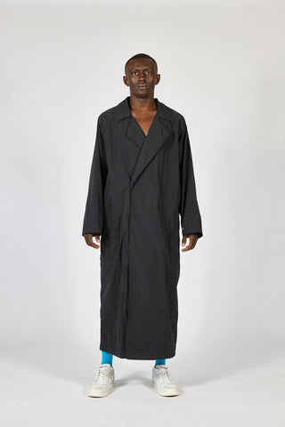 TRENCH COAT - BLACK willy chavarria hummel