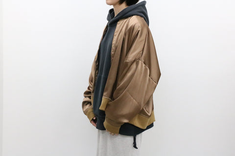 WILLY CHAVARRIA / SATIN TRACK JACKET brown power