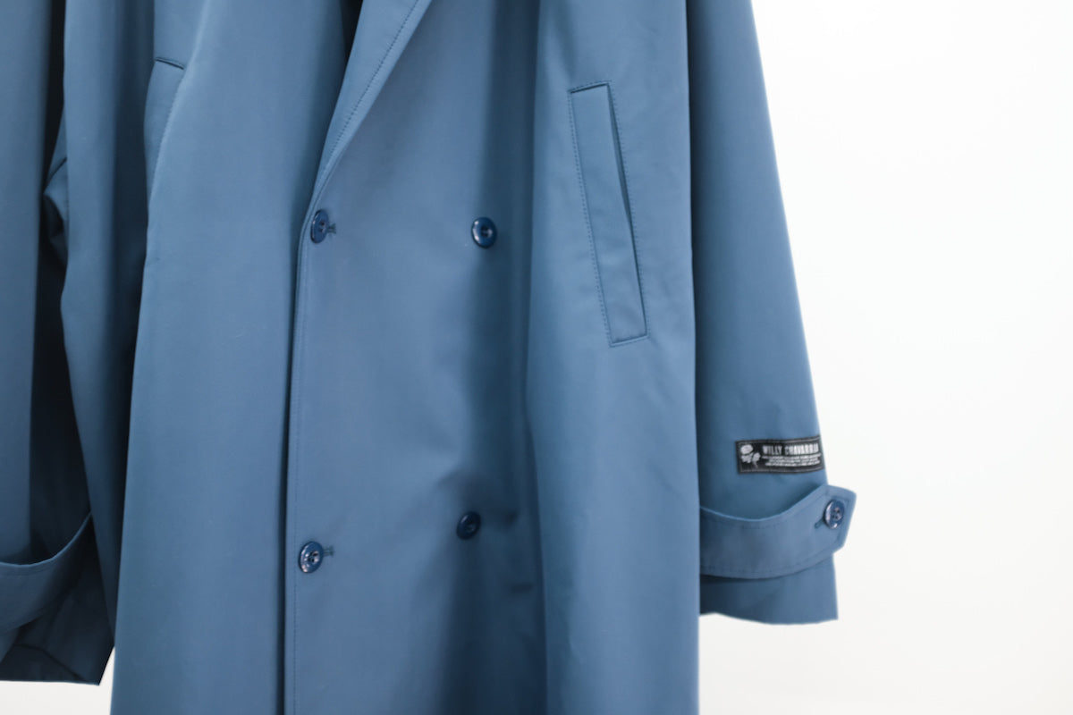 WILLY CHAVARRIA / UNLINED TOP COAT BLUE