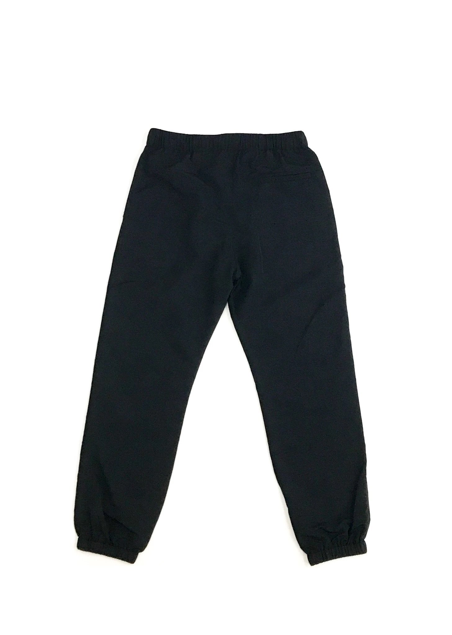 GREI new york (グレイ) / TRACK PANTS 4-PLY DWR FINISH BLACK。バック画像。