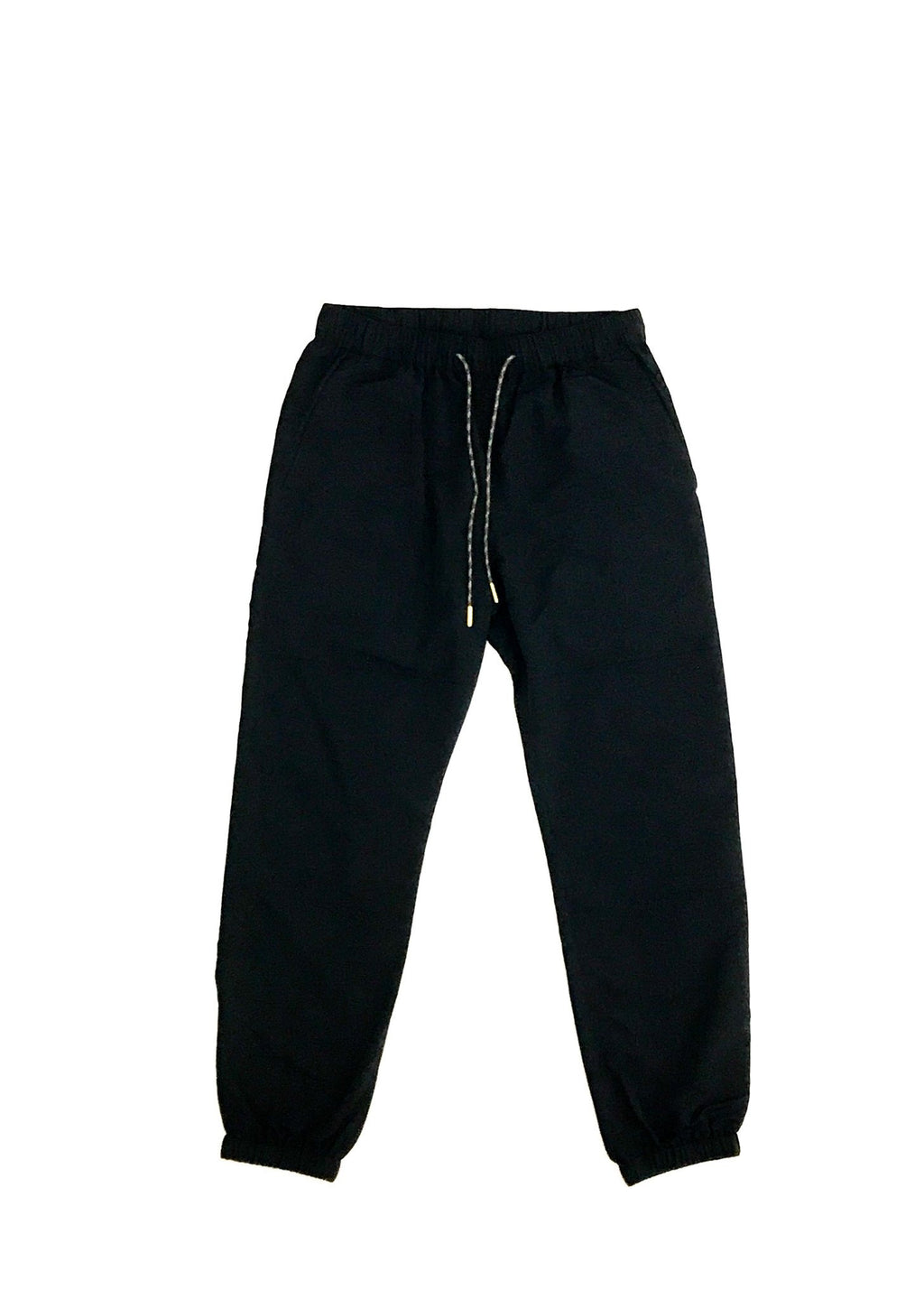 GREI new york (グレイ) / TRACK PANTS 4-PLY DWR FINISH BLACK。正面画像。