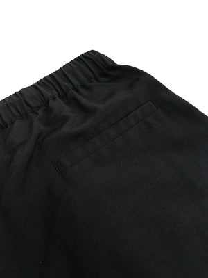 GREI new york (グレイ) / TRACK PANTS 4-PLY DWR FINISH BLACK。バックポケット画像。