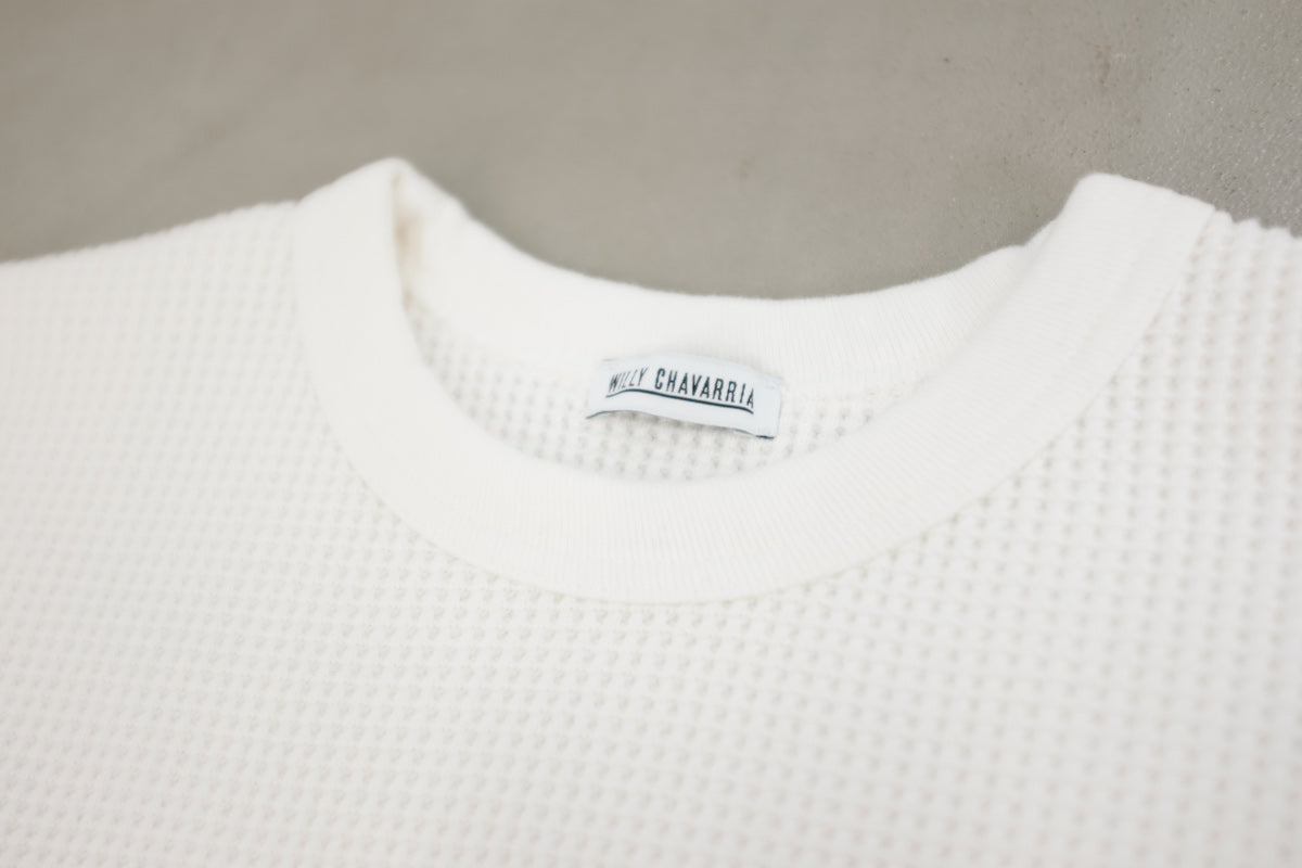 WILLY CHAVARRIA / WAFFLE RUFF NECK T