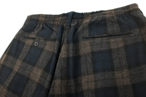 WILLY CHAVARRIA / MADERA CHINO BROWN PLAID BUTTON