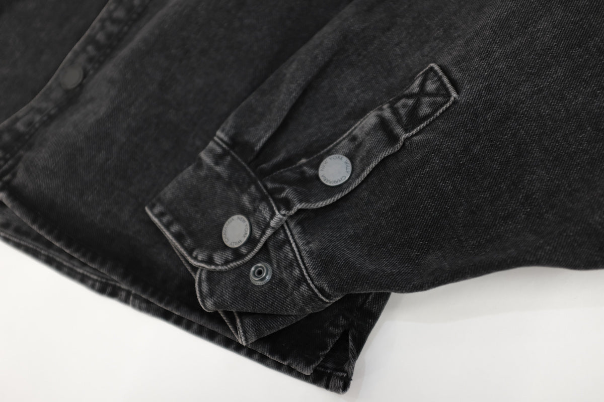 WILLY CHAVARRIA / DIRTY WILLY WORK JACKET WASHED BLACK