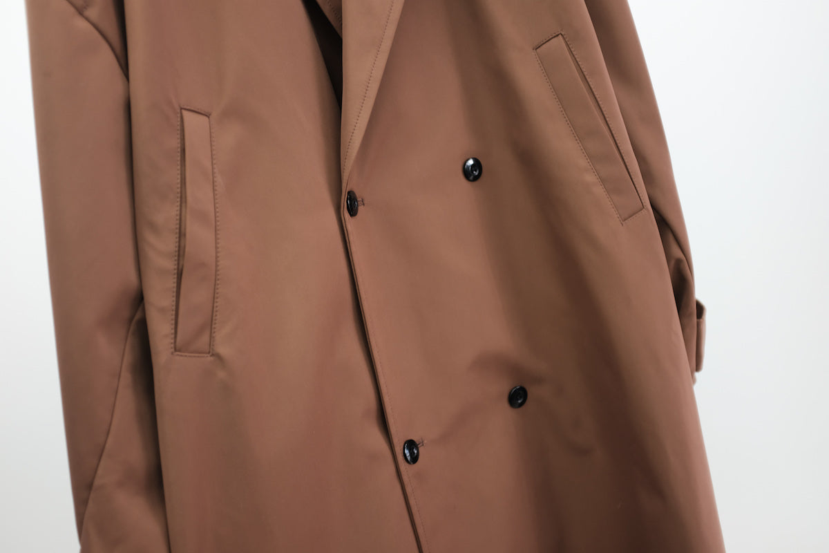 WILLY CHAVARRIA / UNLINED TOP COAT BROWN