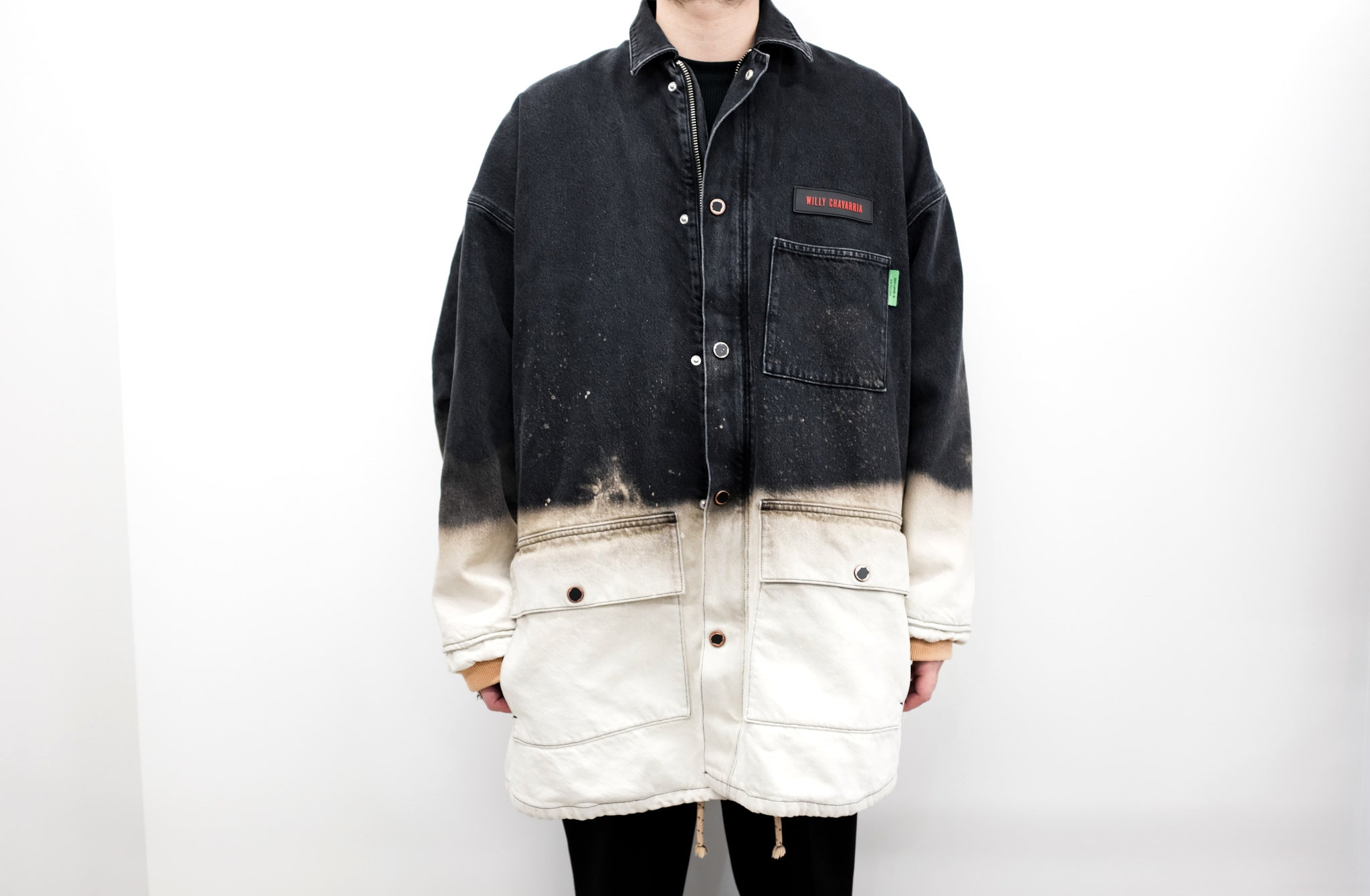 WILLY CHAVARRIA / DIRTY WILLY MONSTER WORK JACKET VINTAGE LIKE BLEACH
