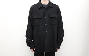 "<span style=""color: #ff2a00;"">Last One</span> WILLY CHAVARRIA / MADERA WOOLEN SHIRT BLACK SHOW PIECE"