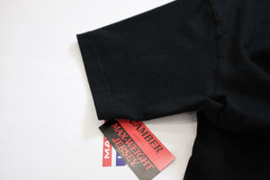 CAMBER (キャンバー) / 302 8OZ MAX WEIGHT POCKET T  LS Tも好評のMAX WEIGHTが半袖で登場です。こちらはBLACK。未だMADE IN USAを誇るCAMBER。袖、タグ画像。