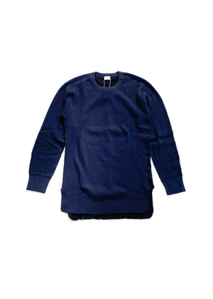 Healthknit (ヘルスニット) / DOUBLEFACE THERMAL LONG。dark navy 正面画像。