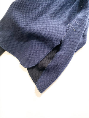 Healthknit (ヘルスニット) / DOUBLEFACE THERMAL LONG。dark navy スリット画像。
