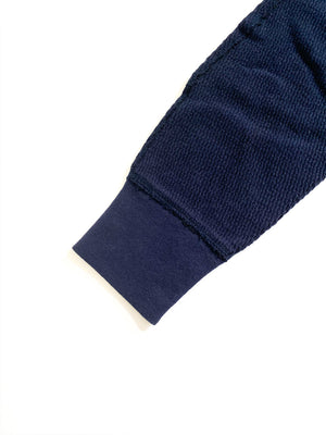 Healthknit (ヘルスニット) / DOUBLEFACE THERMAL LONG。dark navy 袖リブ画像。