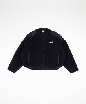Willy Chavarria X KANSAS CROPPED SHERPA JACKET - NAVY