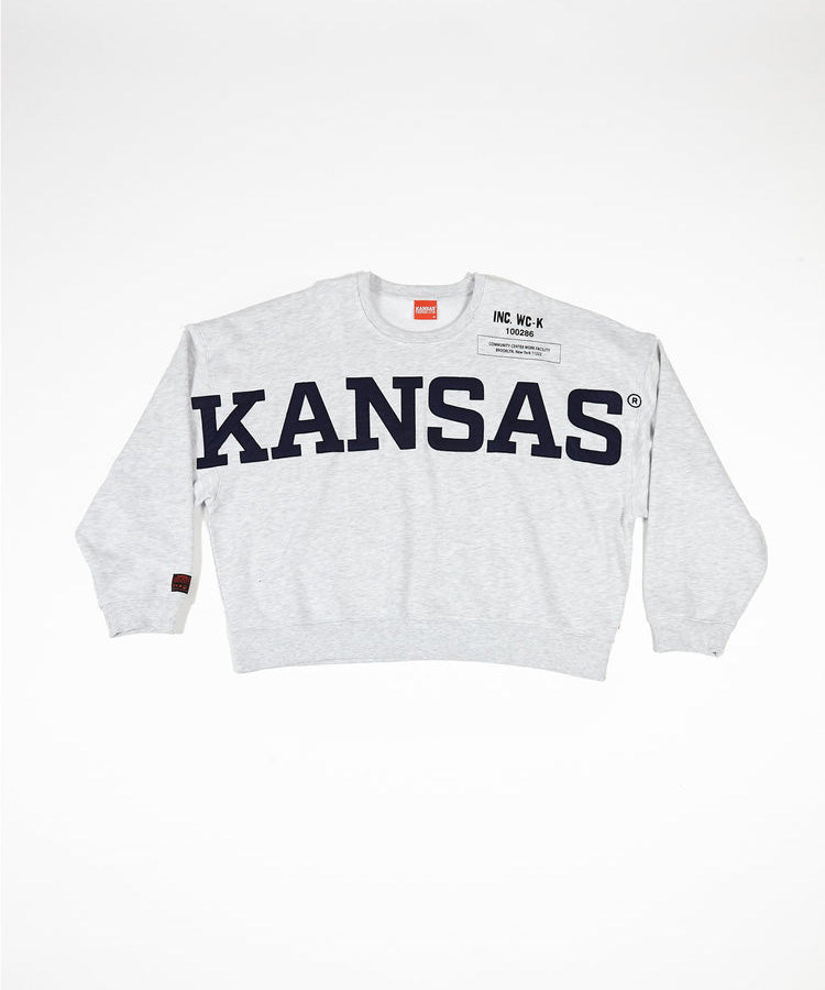 Willy Chavarria X KANSAS SWEATSHIRT - HEATHER GREY