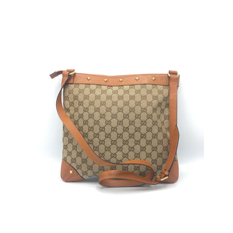 Gucci Canvas Messenger  Crossbody Bag