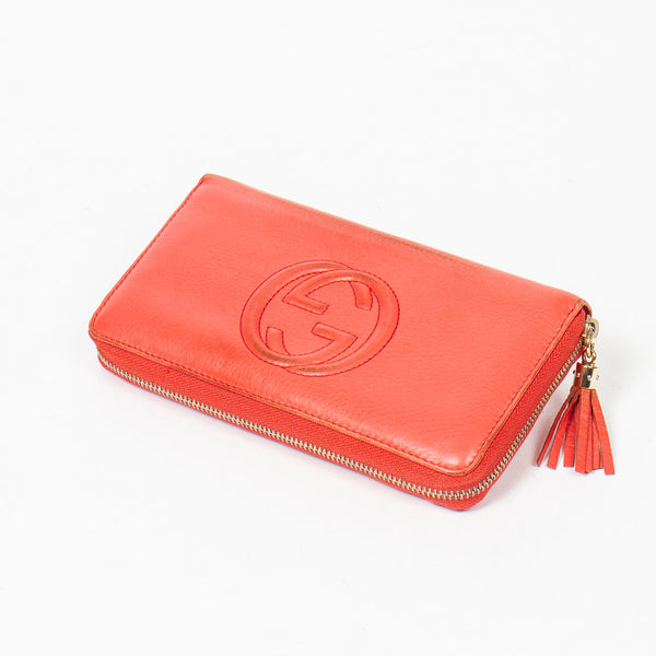 Gucci Soho Tassel Zip Wallet