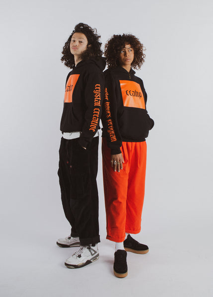 Black x Orange Box Hoodie