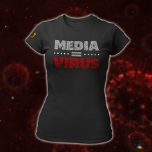 Afbeelding in Gallery-weergave laden, MEDIA = VIRUS T-Shirt (DAMES) - De Jensen Show
