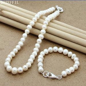 White Pearl Jewellery Sets