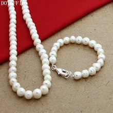 Load image into Gallery viewer, White Pearl Jewellery Sets