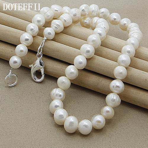Freshwater Natural Pearl Necklace Casual 8mm