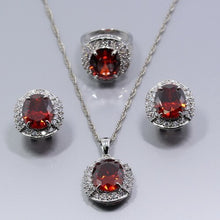 Load image into Gallery viewer, Silver Jewelry Sets For Women