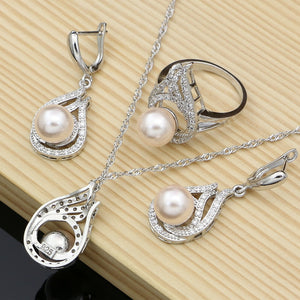 Silver Jewelry For Women Set