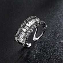 Load image into Gallery viewer, White Zircon Opening Adjustable Size Ring