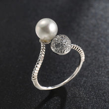 Load image into Gallery viewer, Silver Jewelry Women Natural Freshwater Pearl Ring