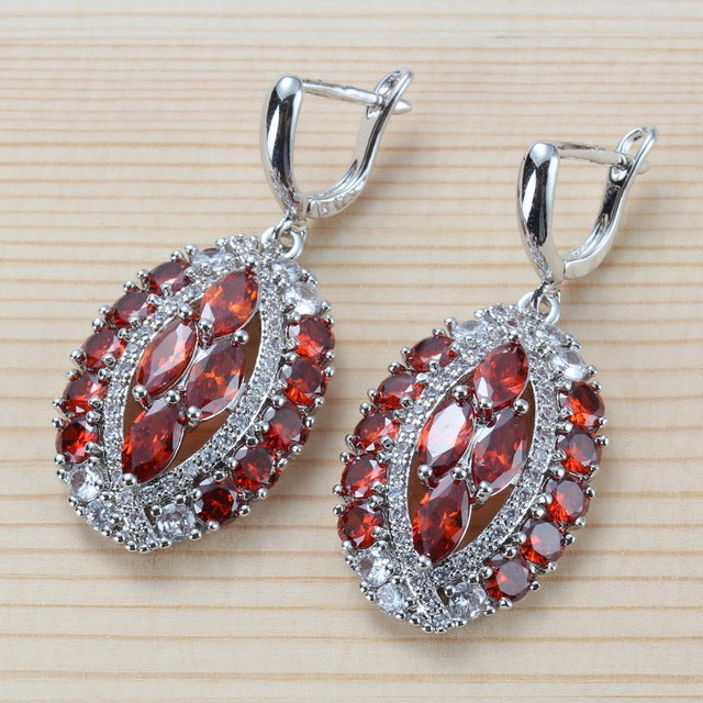 Sterling Silver Multicolour Crystal Earring