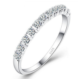 Silver Eternity Ring Bands for Women