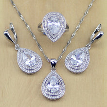 Load image into Gallery viewer, Silver Oval Shaped Jewelry Sets For Women
