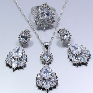Silver Jewelry Set Charming For Women