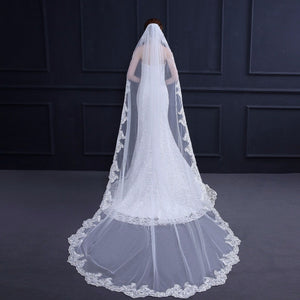 Wedding Veil Lace Edge Wedding Accessories