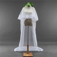 Load image into Gallery viewer, Bridal Wedding Veil With Lace