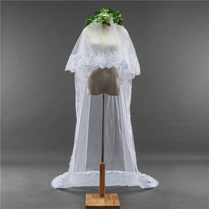 Bridal Wedding Veil With Lace