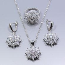 Load image into Gallery viewer, Silver White Zircon Jewelry Sets For Women