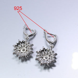 Silver White Zircon Jewelry Sets For Women