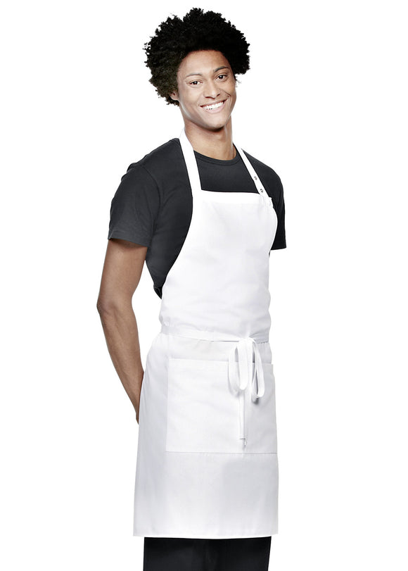 Simon Jersey Bib Apron ½ length with white pocket