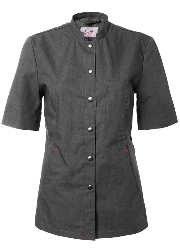 Serving jacket Women Anthracite gray