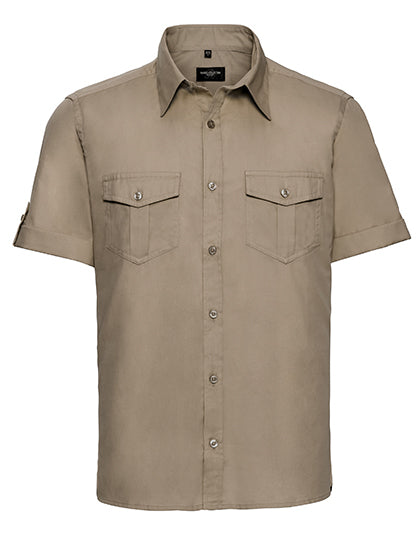 R Coll S / S Pocketed Twill Shirt