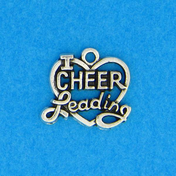 I Love Cheerleading Charm