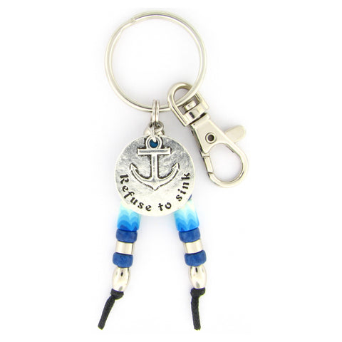 Refuse to Sink Key Chain